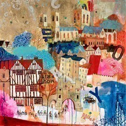 To Town by Richard Burel -  sized 32x32 inches. Available from Whitewall Galleries